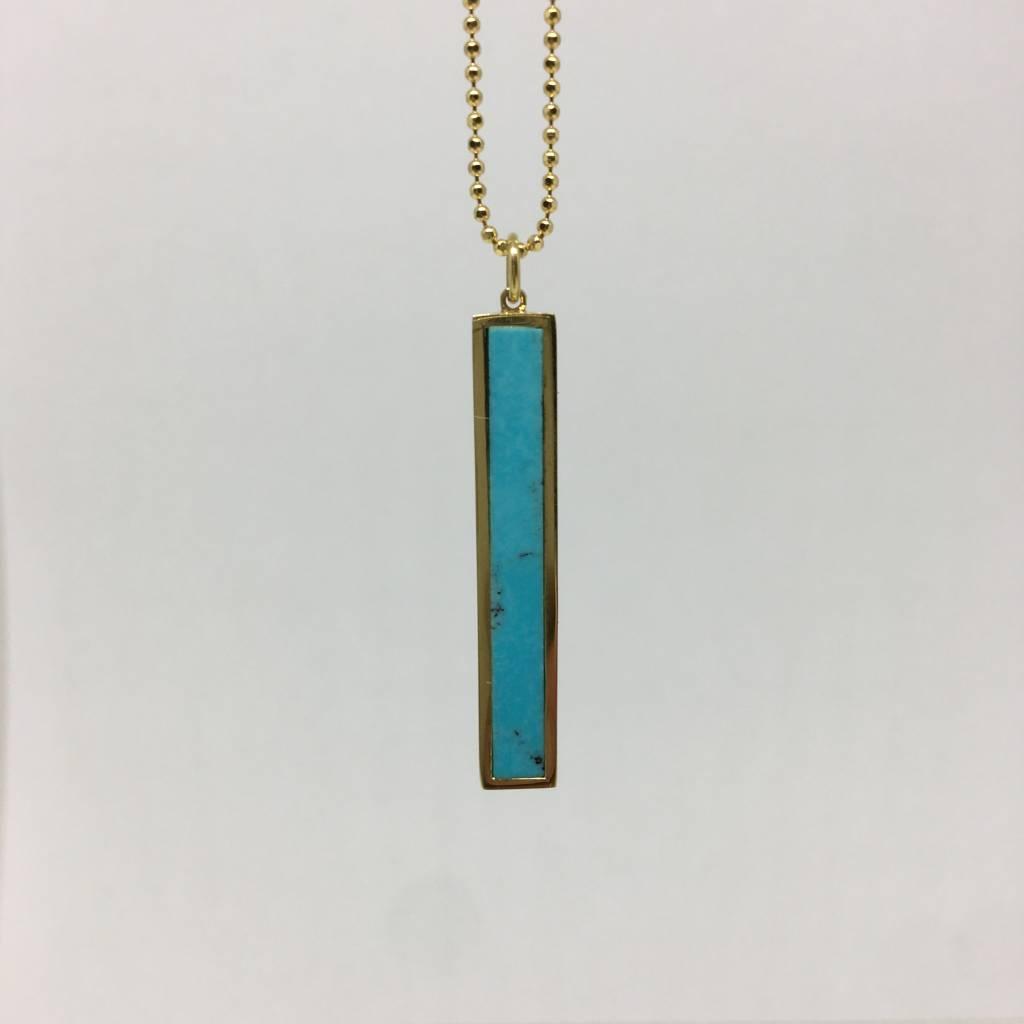 Jennifer Meyer Turquoise bar necklace