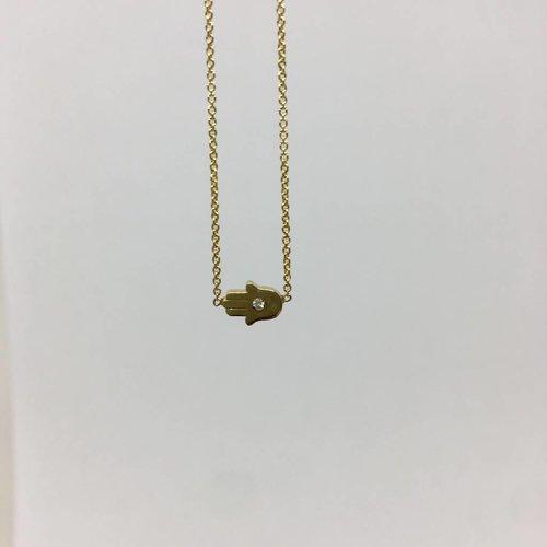 Jennifer Meyer Diamond hamsa necklace