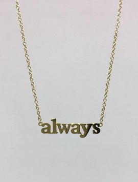 "Jennifer Meyer ""Always"" Necklace"