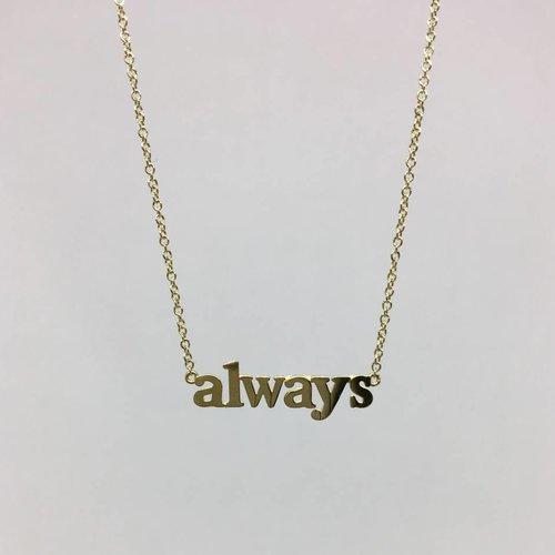 "Jennifer Meyer ""Always"" Necklace"