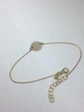 Majolie Gold and Diamond Disc Bracelet