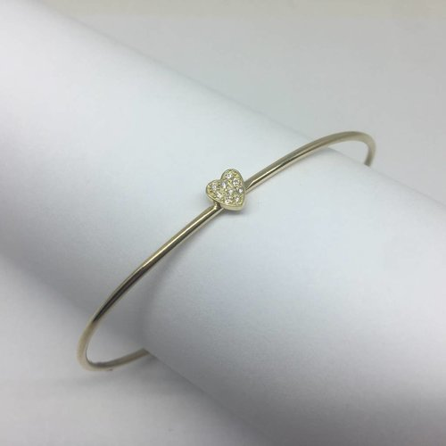 Jennifer Meyer Diamond Heart Cuff