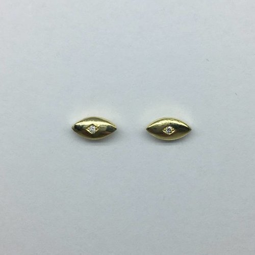 Jennifer Meyer Evil eye stud earrings