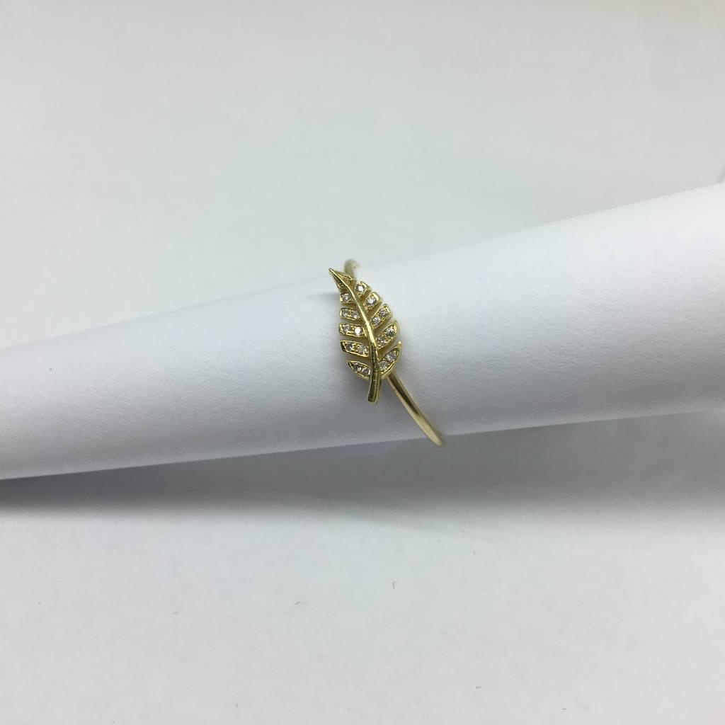 Jennifer Meyer Jennifer Meyer Diamond Mini Leaf Ring