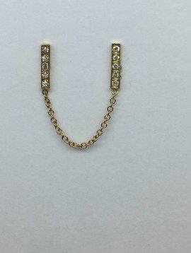 Jennifer Meyer Diamond Bar Chain Earring