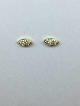 Jennifer Meyer Pave Evil Eye Studs