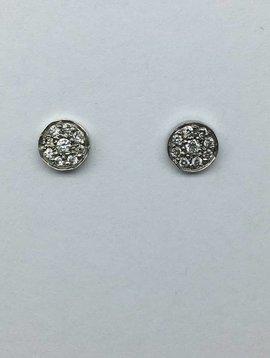 Jennifer Meyer White Gold Circle Earrings