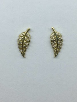 Jennifer Meyer Diamond Leaf Studs