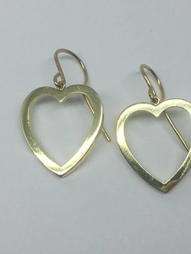 Jennifer Meyer Heart Drop Earrings