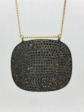 Lera Jewels Pave Square Necklace
