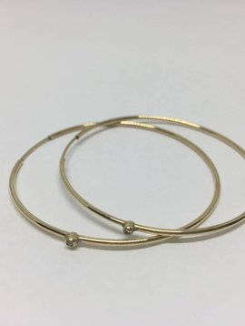 Jennifer Meyer Diamond Hoop Earrings