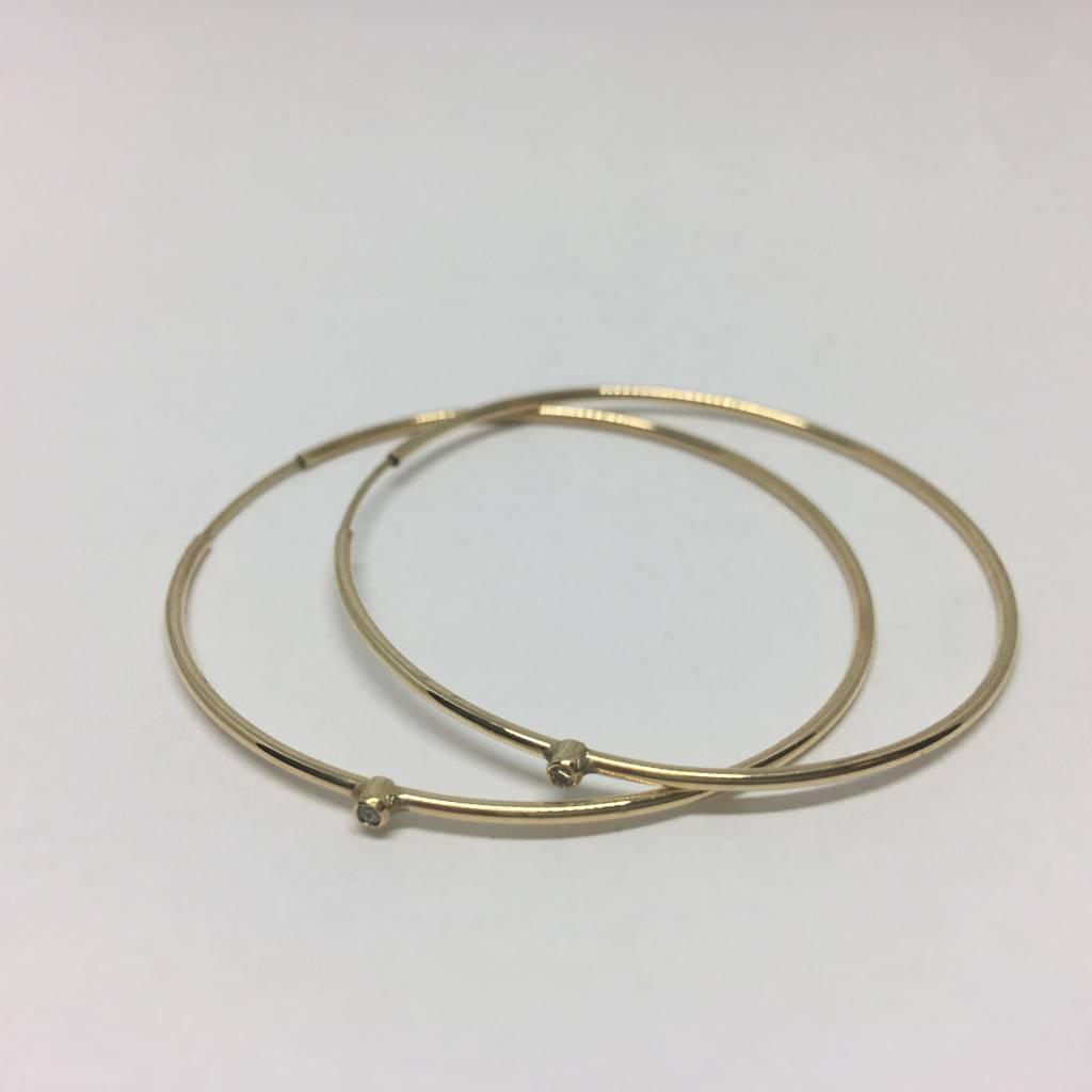 Jennifer Meyer Diamond hoop earring