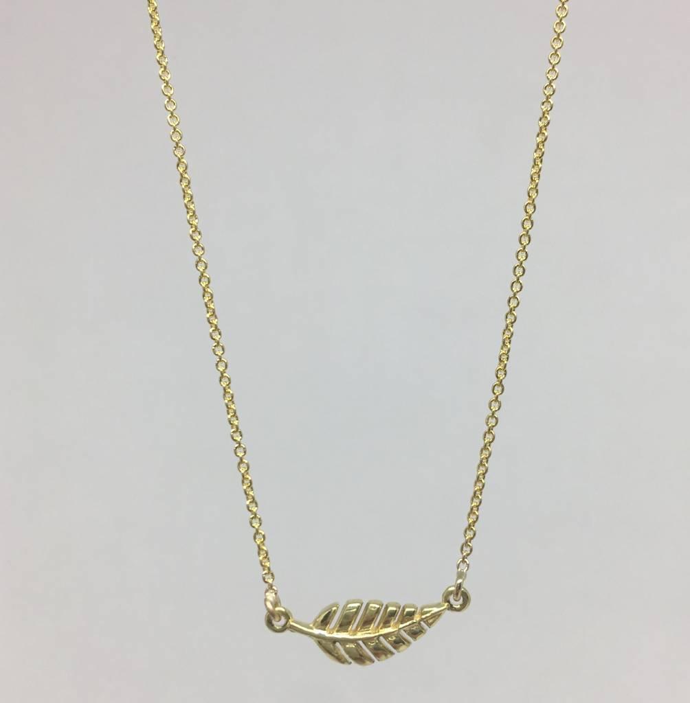 Jennifer Meyer Mini leaf necklace