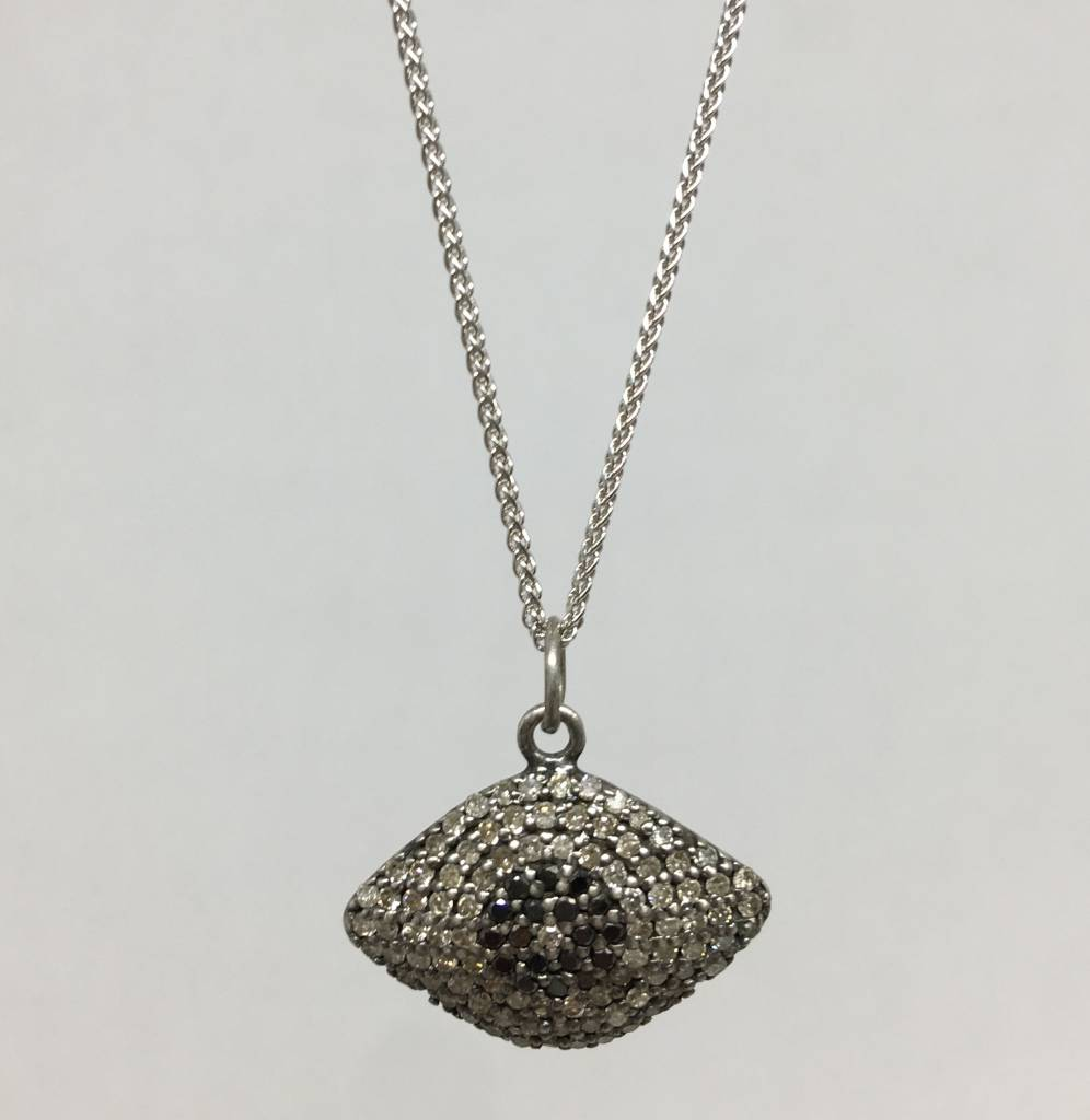 Lera Jewels Diamond Evil Eye Necklace