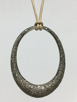 Lera Jewels Eternity Oval Necklace