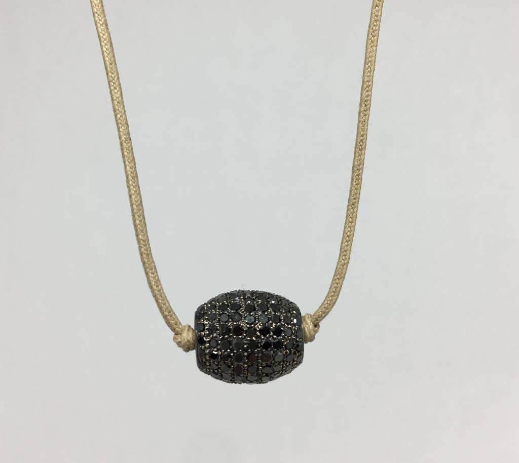 Lera Jewels Black Diamond Barrel Choker