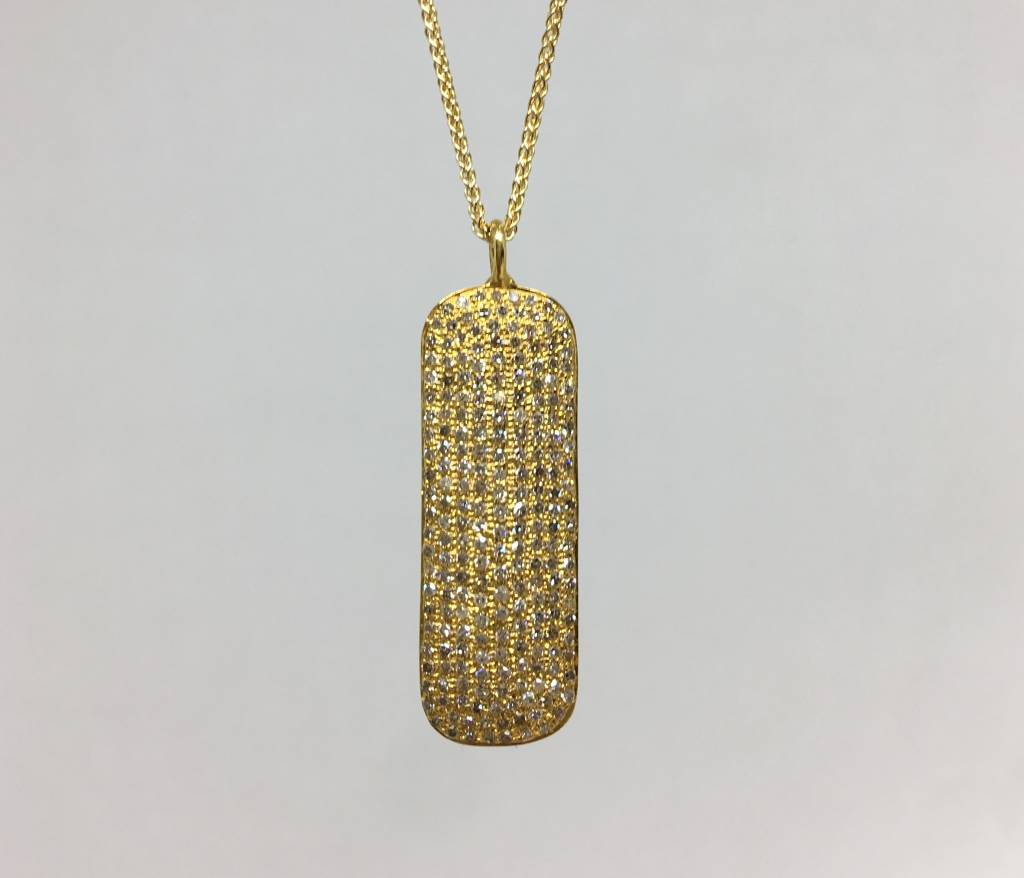 Lera Jewels Dog tag necklace