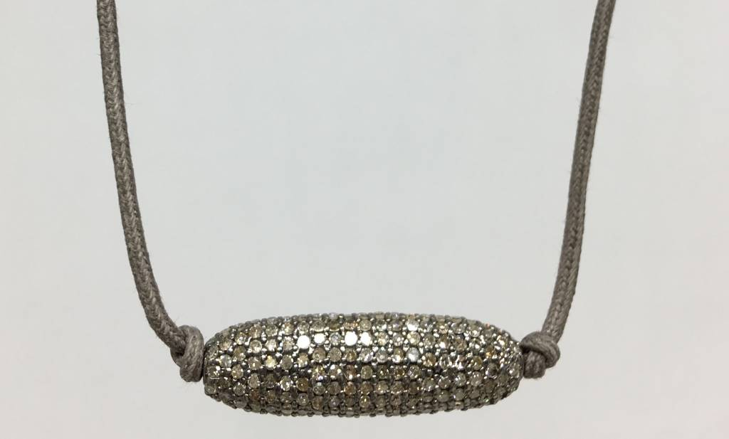 Lera Jewels Oval diamond necklace