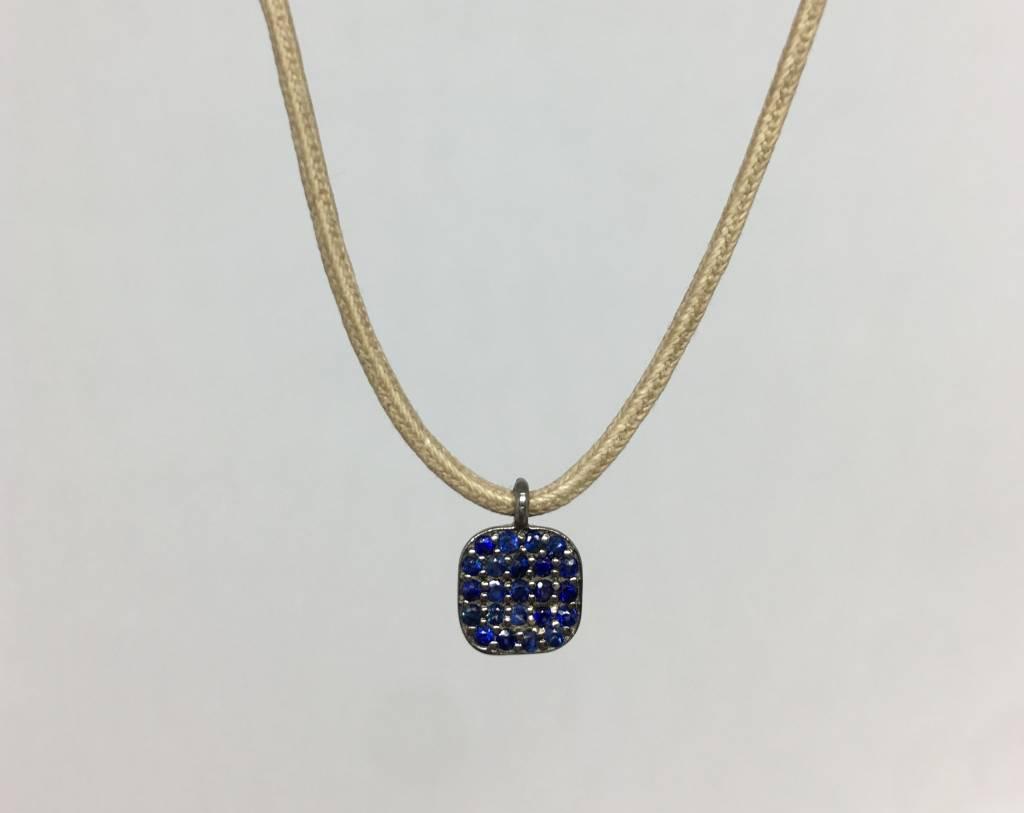 Lera Jewels Sapphire and suede choker
