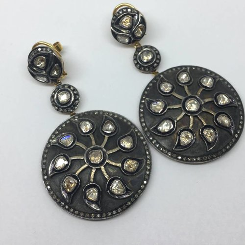 United Gemco Diamond Pinwheel Earrings