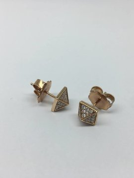 United Gemco Diamond Spike Stud Earrings