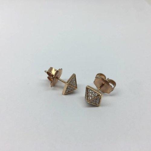 United Gemco Diamond Spike Stud Earrings
