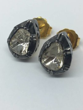 United Gemco Pear Diamond Studs