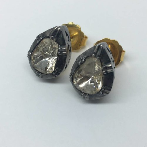 United Gemco Pear Diamond Studs