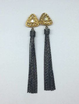 United Gemco Diamond Tassle Earrings