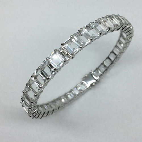 United Gemco White Topaz Bangle