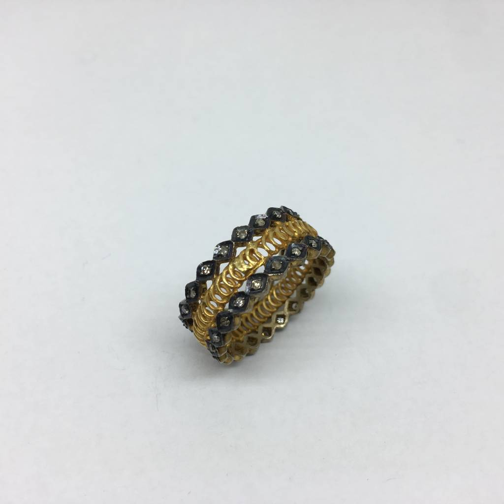 United Gemco Layered Gold Ring