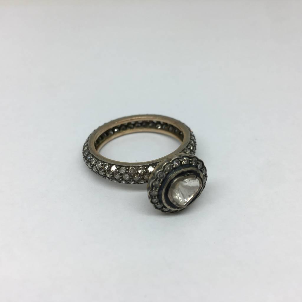 United Gemco Raw Diamond Ring