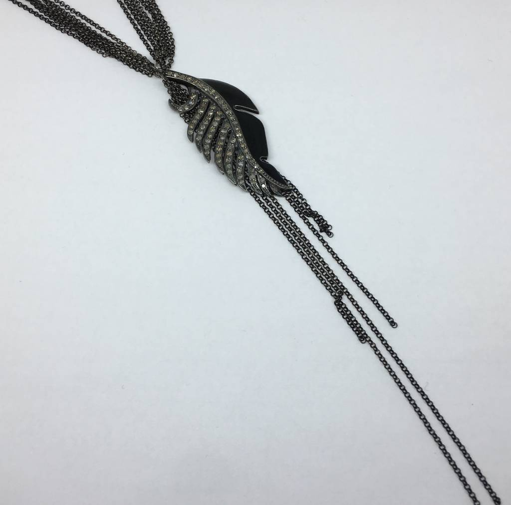 United Gemco Diamond Wing Necklace