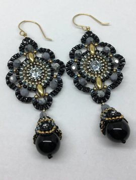 Miguel Ases Black Sapphire Earrings