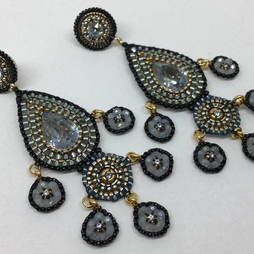 Miguel Ases Smoke drop earrings