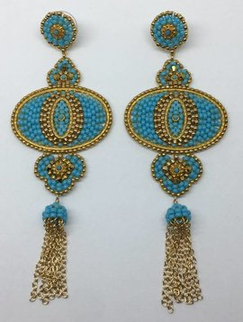 Miguel Ases Turquoise Drop Earrings