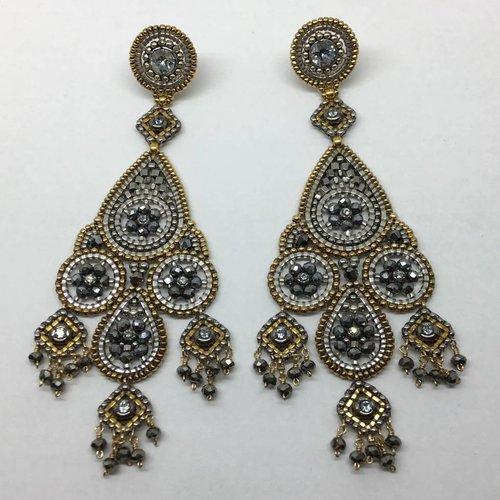 Miguel Ases Pyrite Beaded Earrings