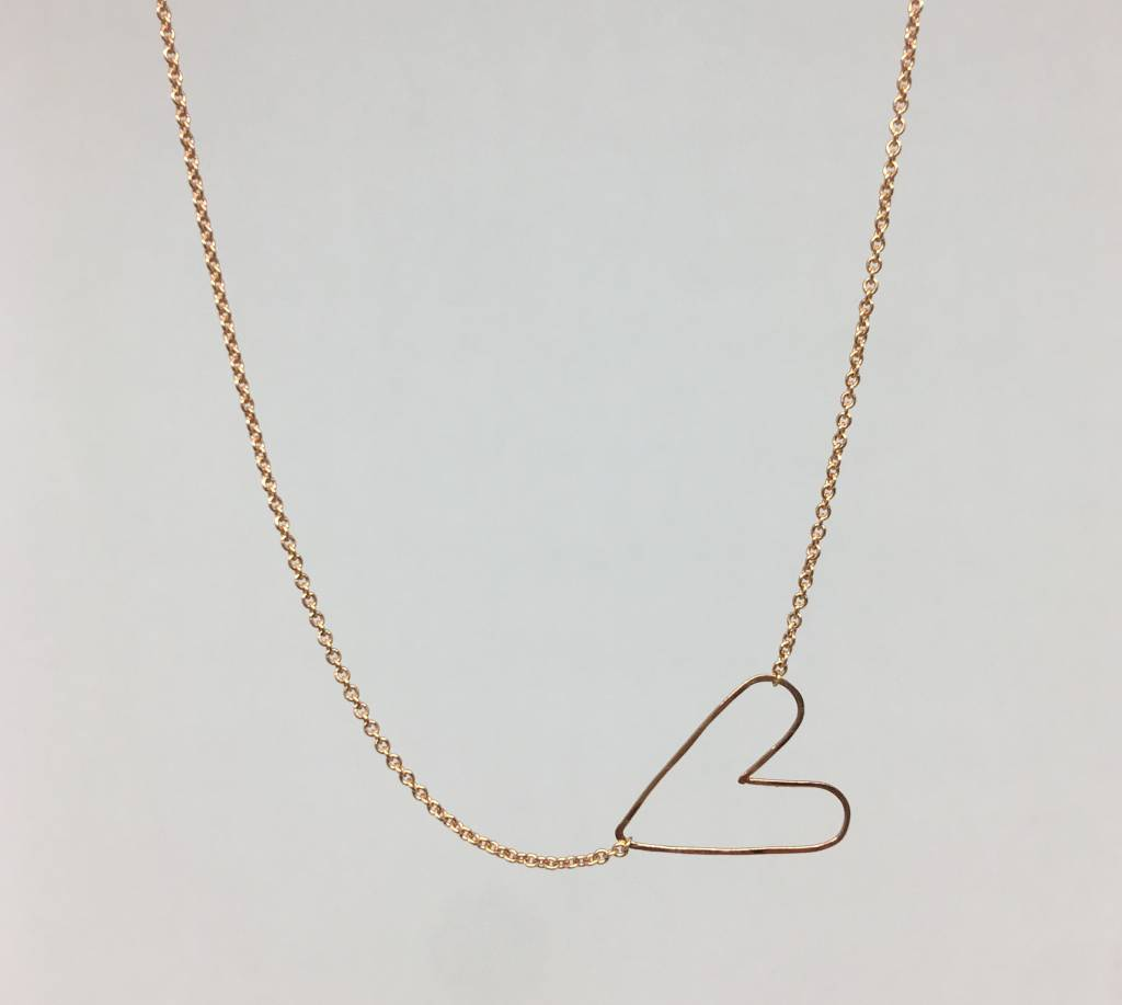 Zoe Chicco Hammered Heart Necklace