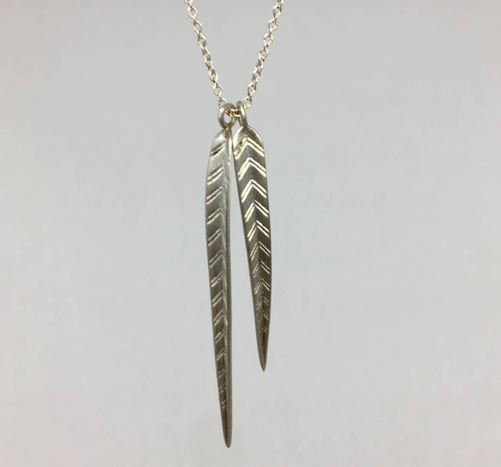 Me&Ro Sterling Silver Leaf Necklace