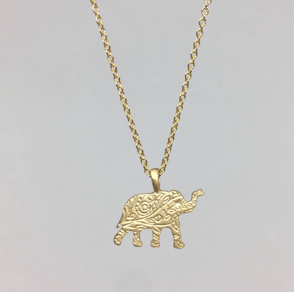Mero gold paisley elephant necklace townhome mero gold paisley elephant necklace aloadofball Gallery