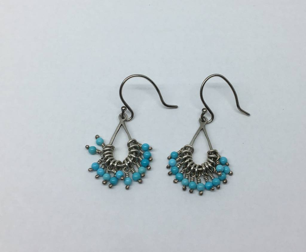 earrings river aqua product beaded hudson sea jewellery glass