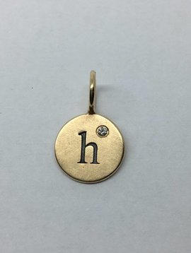 "Heather Moore ""H"" Gold Charm"