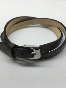 Heather Moore Leather Buckle Bracelet