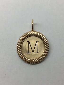 "Heather Moore Framed ""M"" Charm"