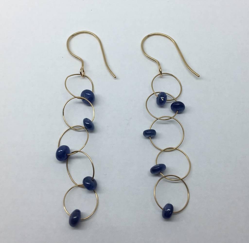 Heather Moore Sapphire drop earrings