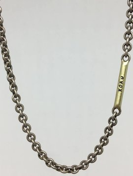 "Heather Moore ""XOXO"" Bar Chain Necklace"