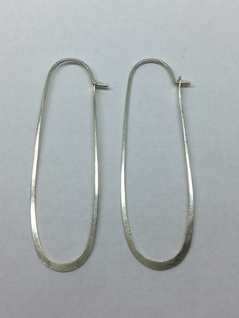 Melissa Joy Manning Sterling Silver Oblong Hoops