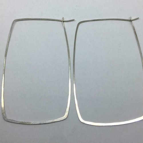 Melissa Joy Manning Sterling Silver Square Hoops