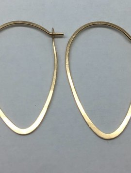 Melissa Joy Manning Gold Leaf Hoops