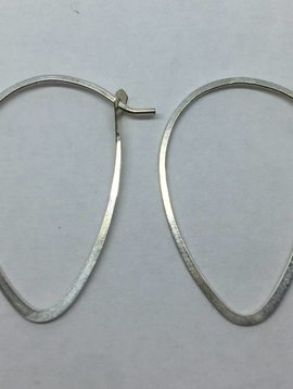 Melissa Joy Manning Sterling Silver Leaf Hoops
